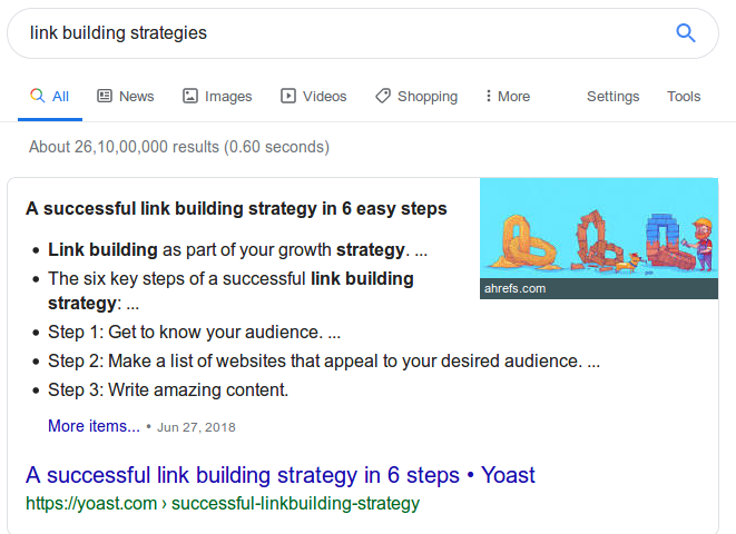 Successful Link Building Strategy
